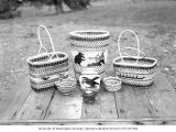 Quileute Indian baskets, La Push, October, 1963