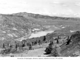 Columbia River in the vicinity of Inspiration Point before Grand Coulee Dam completion, April 23,...