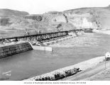 Grand Coulee Dam under construction, April 23, 1938