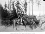 Lawrence Lindsley on horseback, Licton Springs, June 1900