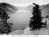 Lake Chelan from Mitchell Creek with Chelan Mountains in the distance, 1911
