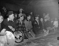Bone game at the Swinomish smokehouse, January 22, 1946