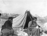Makah couple at Port Townsend, September 2, 1899