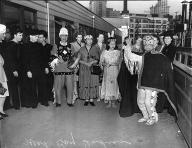 Makah dancing at Colman Dock, Seattle, March 22, 1941