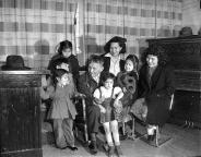 Chief Jerry Kanim and his family, Snoqualmie, February 21, 1948