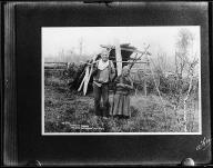 Puyallup man known as Nelson and his wife, Washington, ca. 1900