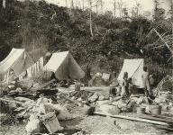 Camp of Auk Indians, Alaska, ca. 1896