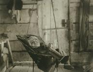 Infant asleep in a sling, Alaska, ca. 1905