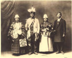 Yakama couples posed in ceremonial dress, Washington, ca.1905