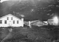 Chilkat houses including Koh-Klux's big house, Klukwan, Alaska, 1894