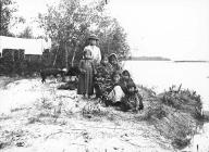 Chilkat children on river bank, Klukwan, Alaska 1894