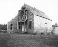 Quinault government built school house, Quinault Indian Reservation, Washington, 1905.
