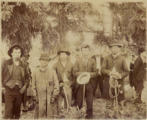 Nisqually men named Bill Quiemuth, Luke, George Leschi & Yelm Jim, Washington, ca.1899