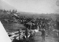 Chinook horse racing, Camas, Washington, ca.1890-1893.