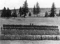 Spokane Indian students at Fort Spokane, Washington, ca. 1904.
