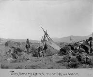 Wenatchi temporary camp, near Wenatchee, Washington, ca.1906