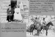 Chelan man known as Wapato John & wife, and, Julia Bob and a man on horseback, Chelan...