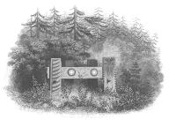 Chinook chief Comcomly's tomb, Astoria Oregon, in engraving made 1841
