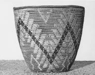 Cowlitz basket by Mary Kiona, from the Upper Cowlitz River area, Washington, 1926