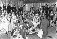 Tlingit Chief Charles Jones Shakes and guests, Wrangell, Alaska, June 1940.