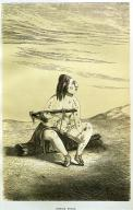 Chinook woman with infant in head-binding board, in engraving made ca. 1860