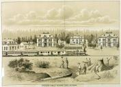 Indian Training School, Chemawa near Salem, Oregon, in engraving made 1887