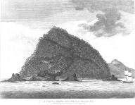 Haida dwelling on Hippa Island, British Columbia, in engraving made 1787