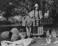 Yakama woman named Laxslii Cloud, Washington, 1909.