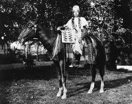 Yakama woman named Celicks on horseback, Washington, 1909.