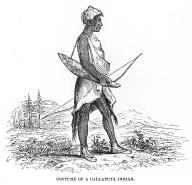 Kalapuya man from Oregon, in woodcut made 1841