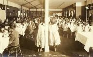 Dinner at Tulalip Indian School, ca. 1912