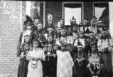 Skitswish girls in ceremonial dress, Sacred Heart Mission, Desmet Idaho, ca. 1936