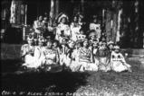 Skitswish children dressed for a play pose at Sacred Heart Mission, Desmet Idaho, 1937
