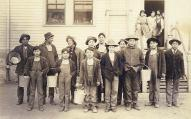 Boys with buckets, Tulalip Indian School, ca. 1912