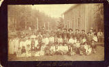Quileute children and teachers, La Push, ca. 1887