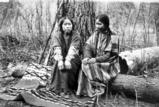 Umatilla women pose in woods, Oregon