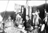 Cayuse and Umatillas being interviewed by Mr. Charles N. Crewsdon, 1903