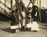 "Snoqualmie Indians at the launching of the steamer ""Snoqualmie,"" 1919"