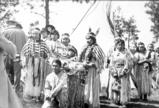 Wenatchi young people attend the opening of the Indian Canyon Golf Course, Spokane, Washington,...