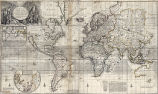 New & Correct Map of the Whole World Shewing ye Situation of its Principal Parts.  Viz the...