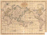 New and Complete Chart of the World; Displaying the Tracks of Captn. Cook, and other Modern...