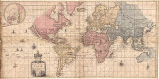 To Capt. John Wood this Map of the World Drawn acording to Mercators Projection is humbly...