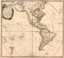 Map of America or The New World wherein are introduced All The Known Parts of the Western...