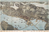 Birds Eye View of Seattle And Environs.  King County, Wash., 1891.  Eighteen Months after the...