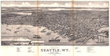 Bird's Eye View of The City of Seattle, WT.  Puget Sound.  County Seat of King County.  1884
