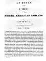 An Essay on the History of the North American Indians, Part 3