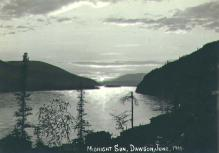 Midnight sun at Dawson, Yukon Territory, June 1900.