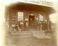 William and Mabel Meed at a roadhouse at the mouth of the Stewart River, Yukon Territory, 1902.