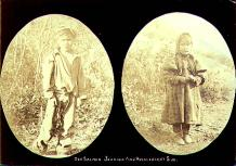 Dog Salmon Johnnie and Huckleberry Sue, two native children of the Yukon Territory, 1902.
