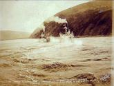 Steamboats COLUMBIAN and  ELDORADO starting from Dawson on a race to Whitehorse Rapids on the...